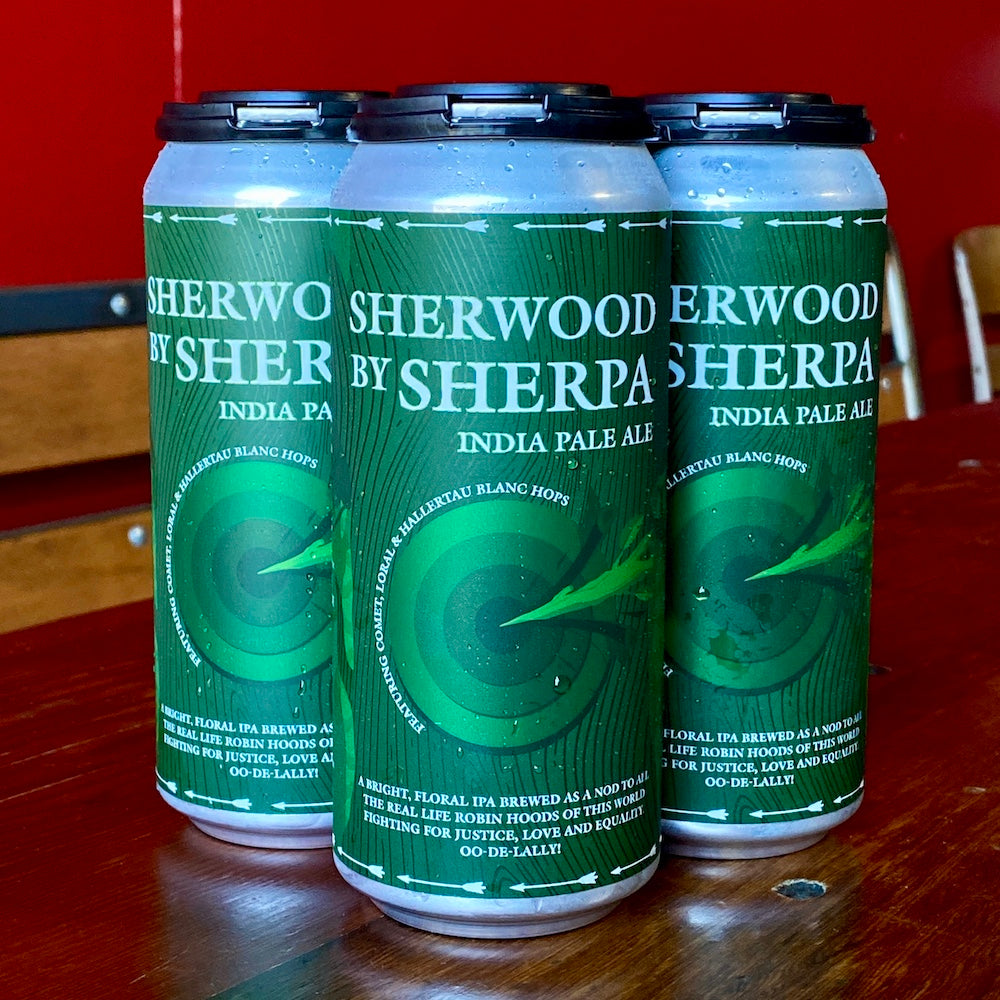 4 Pack of Sherwood By Sherpa beer