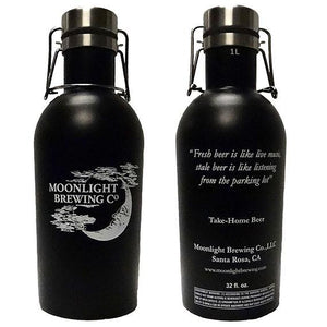 32oz Moonlight Brewing Insulated Growler in Matte Black