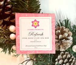 REFRESH Pink Rose Clay Spa Bar with Prebiotics