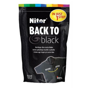 Tekstilfarge | Nitor Back To Black/White - Home And Beauty AS