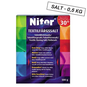 Tekstilfargesalt | Nitor | 500 gram - Home And Beauty AS