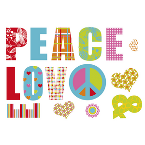 Veggdekor | Love & Peace - Home And Beauty AS