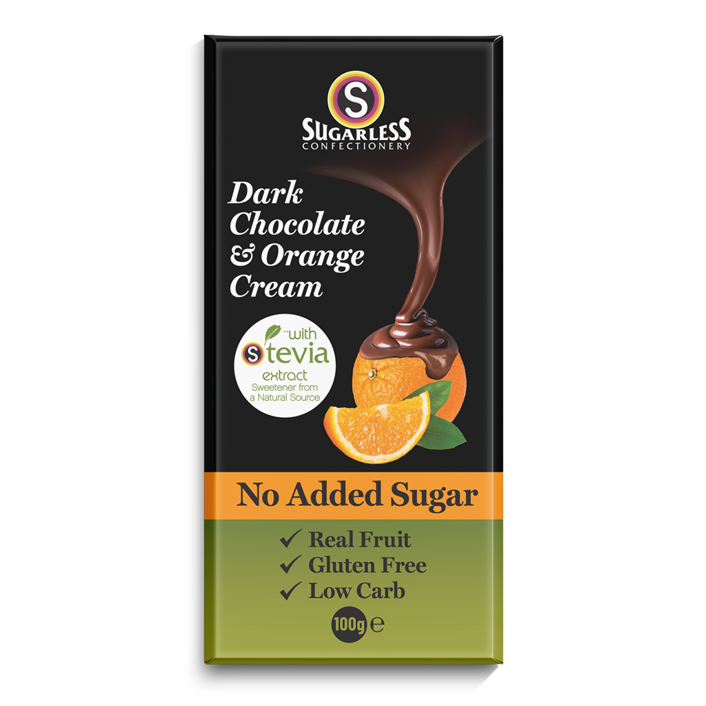 Dark Chocolate & Orange Cream - Sugarless Confectionery