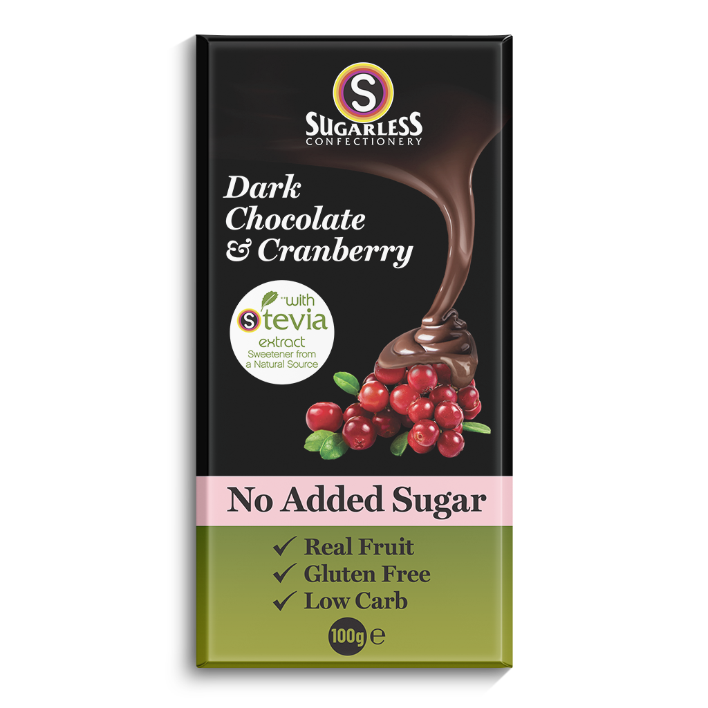 Dark Chocolate & Cranberry - Sugarless Confectionery