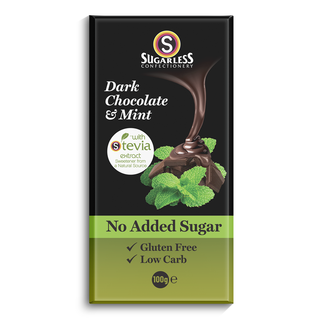 Dark Chocolate & Mint - Sugarless Confectionery
