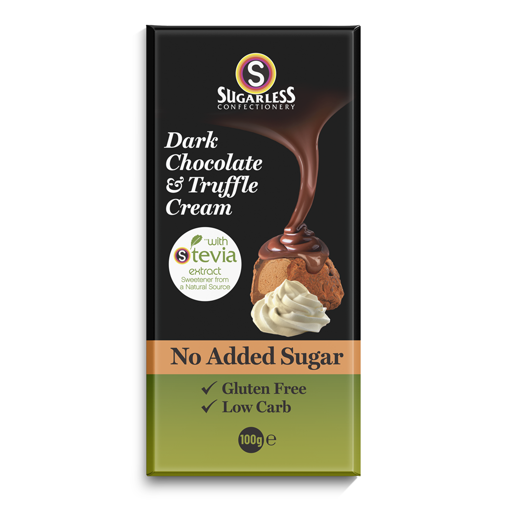 Dark Chocolate & Truffle Cream - Sugarless Confectionery