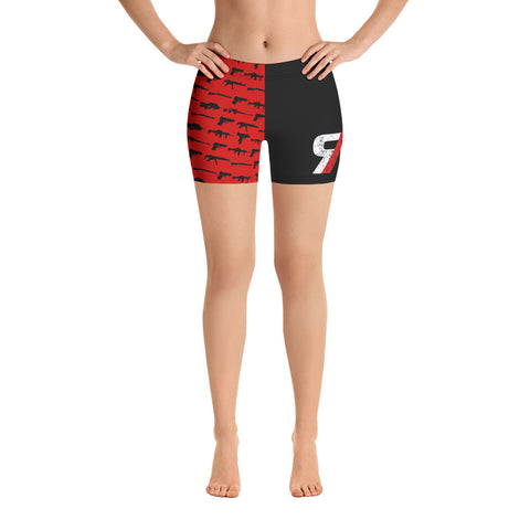 Red Lion Alpha Female Gym Shorts
