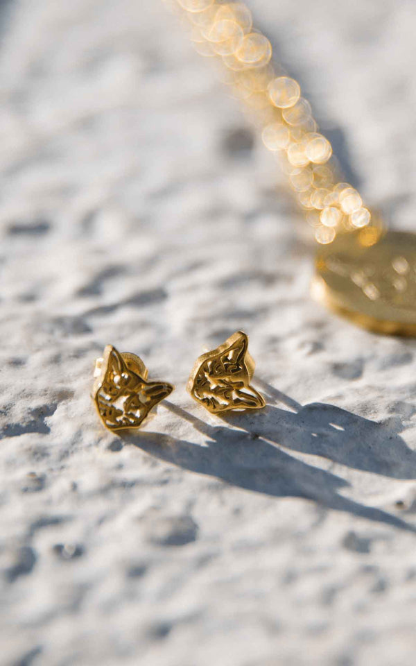 GOLD PURELEI X PARI EARRING CAT - PARI USA