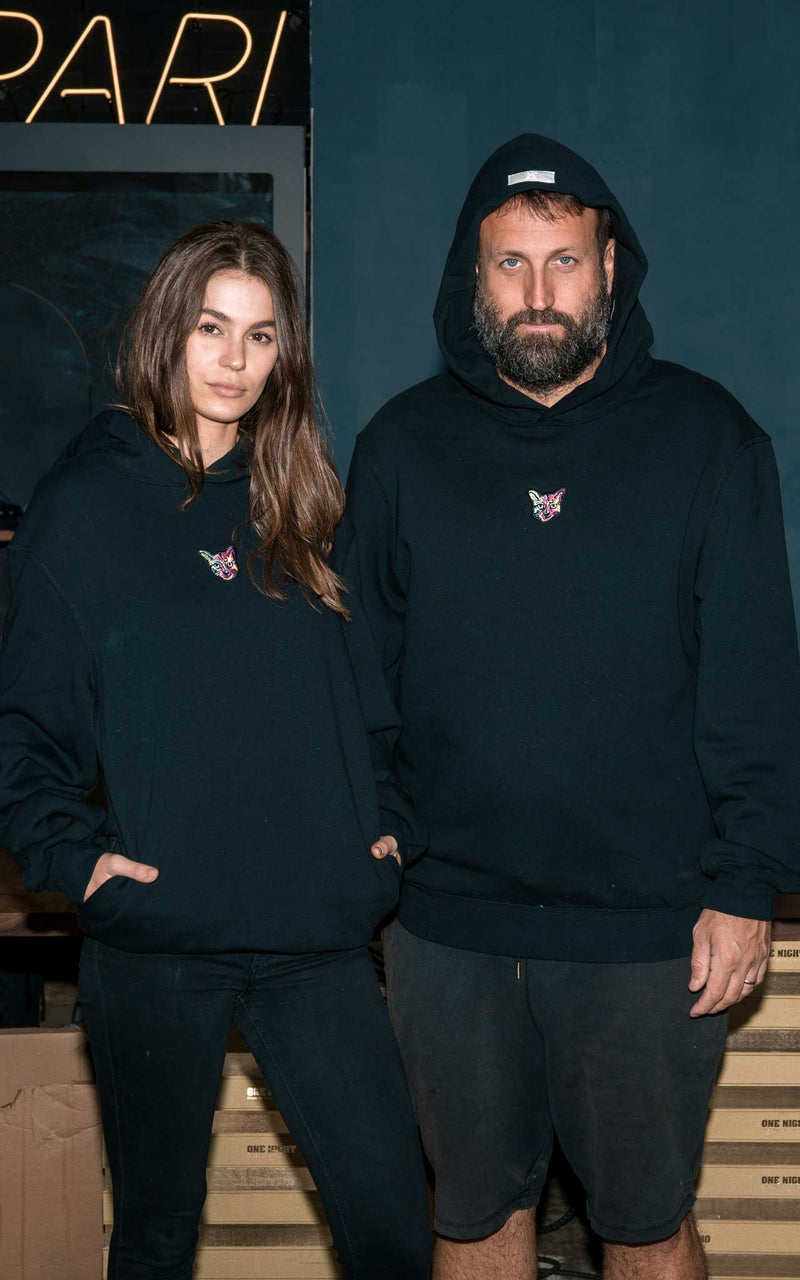 BLACK HOODIE CAT - PARI USA , Wearepari, Paul Ripke, pari swim club, Newport Beach, pari