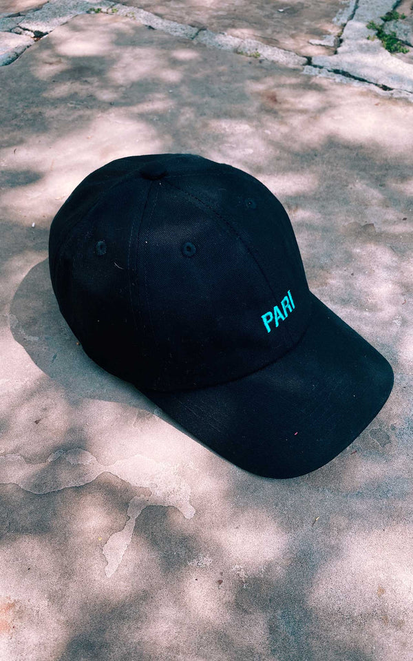 BLACK DAD CAP - PARI USA , Wearepari, Paul Ripke, pari swim club, Newport Beach, pari