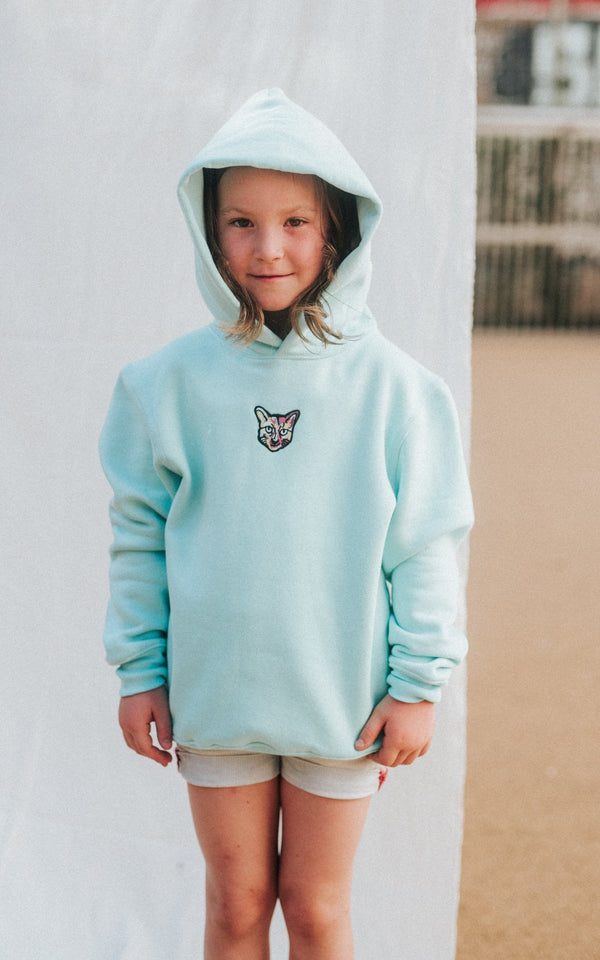 KIDS TURQUOISE SPORTS CLUB HOODIE CAT - PARI USA , Wearepari, Paul Ripke, pari swim club, Newport Beach, pari