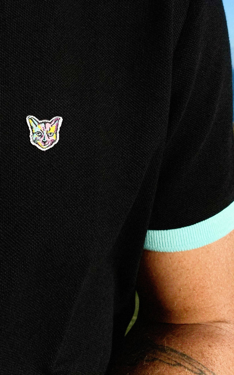 BLACK GOLF CLUB POLO SHIRT - PARI USA , Wearepari, Paul Ripke, pari swim club, Newport Beach, pari