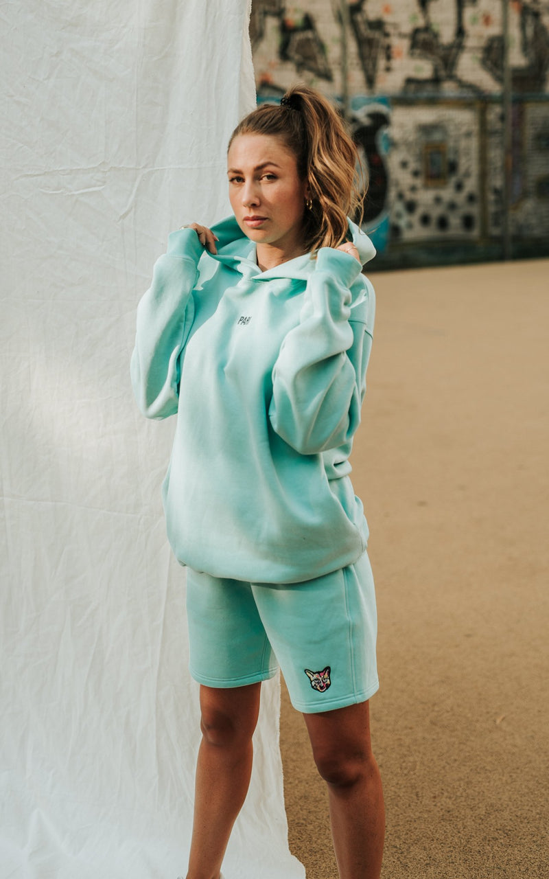 TURQUOISE SPORTS CLUB HOODIE PARI - PARI USA , Wearepari, Paul Ripke, pari swim club, Newport Beach, pari