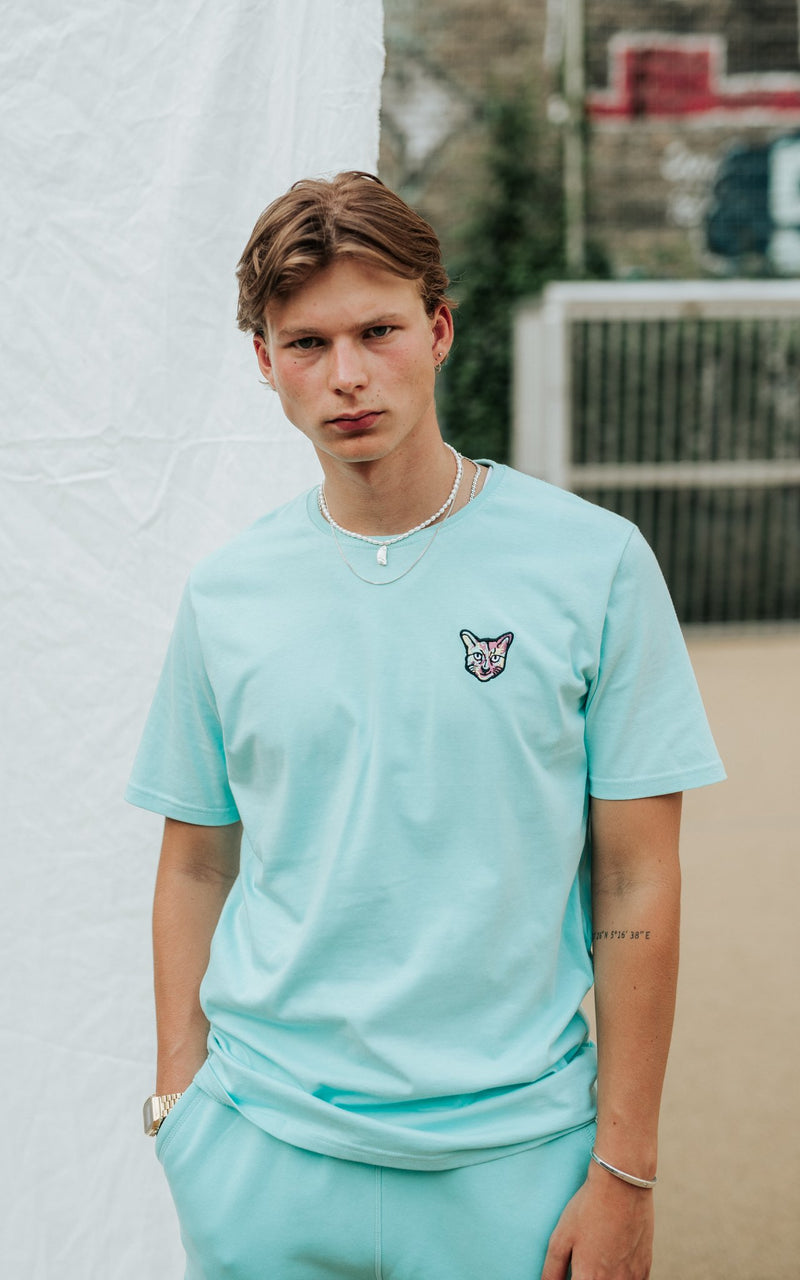 TURQUOISE SPORTS CLUB T-SHIRT CAT - PARI USA , Wearepari, Paul Ripke, pari swim club, Newport Beach, pari