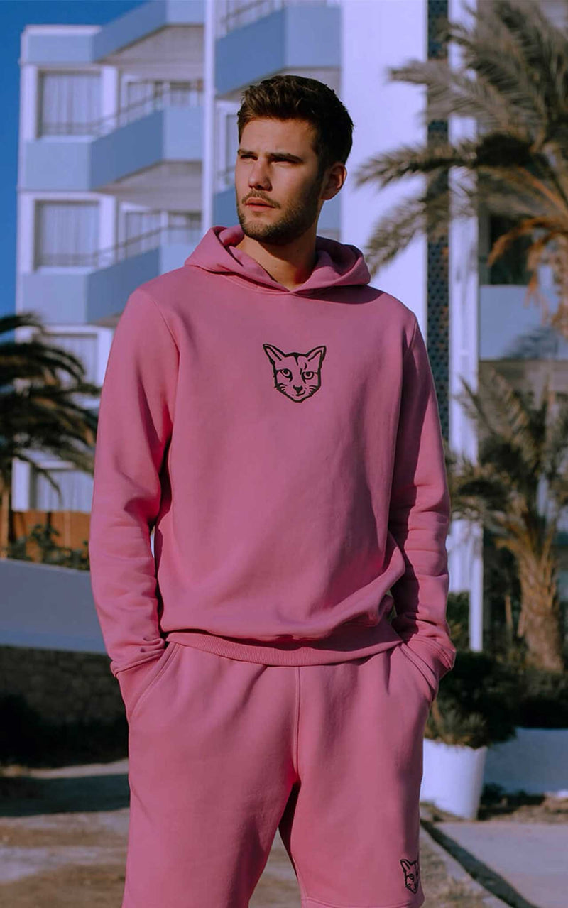 PINK HOODIE RUBBER CAT - PARI USA , Wearepari, Paul Ripke, pari swim club, Newport Beach, pari