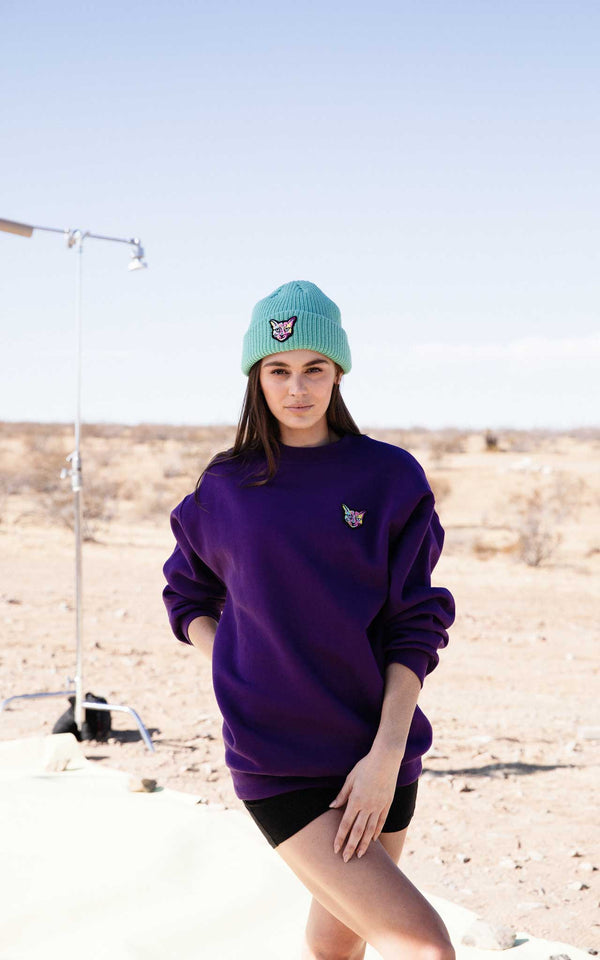 PLUM SWEATSHIRT CAT - PARI USA , Wearepari, Paul Ripke, pari swim club, Newport Beach, pari