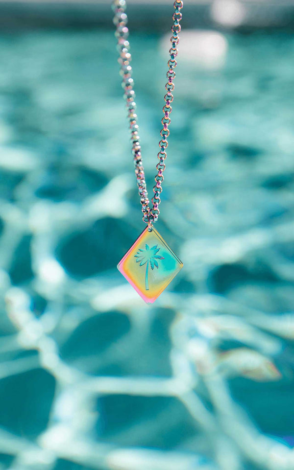 RAINBOW PURELEI X PARI NECKLACE PALM TREE - PARI USA