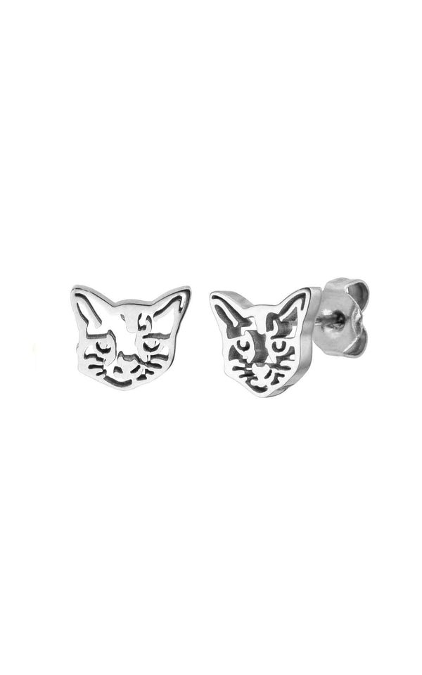 SILVER PURELEI X PARI EARRING CAT - PARI USA