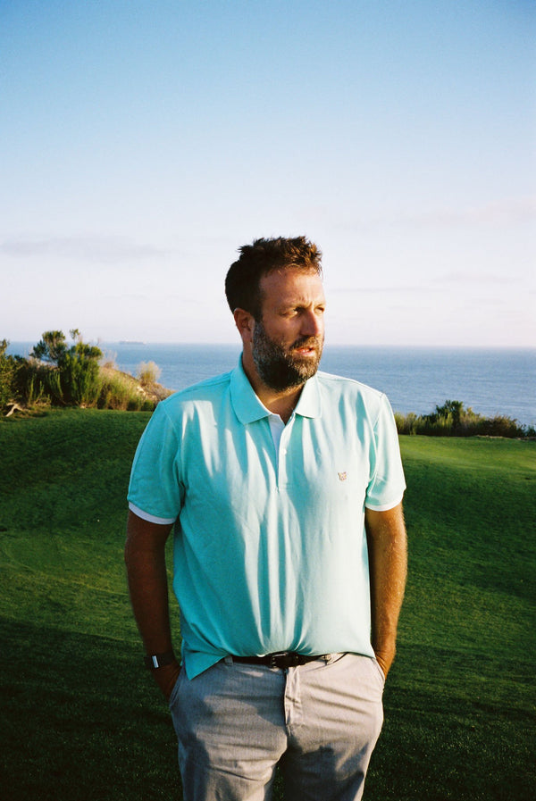 TURQUOISE GOLF CLUB POLO SHIRT - PARI USA , Wearepari, Paul Ripke, pari swim club, Newport Beach, pari
