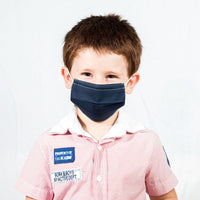 Colorful Face Mask for Kids Blue & White - Currved