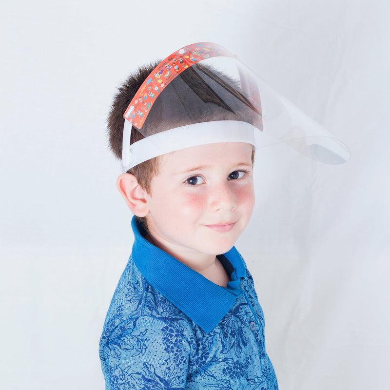 Magic Visors Mechanism Face Shield for Kids | Orange - Currved