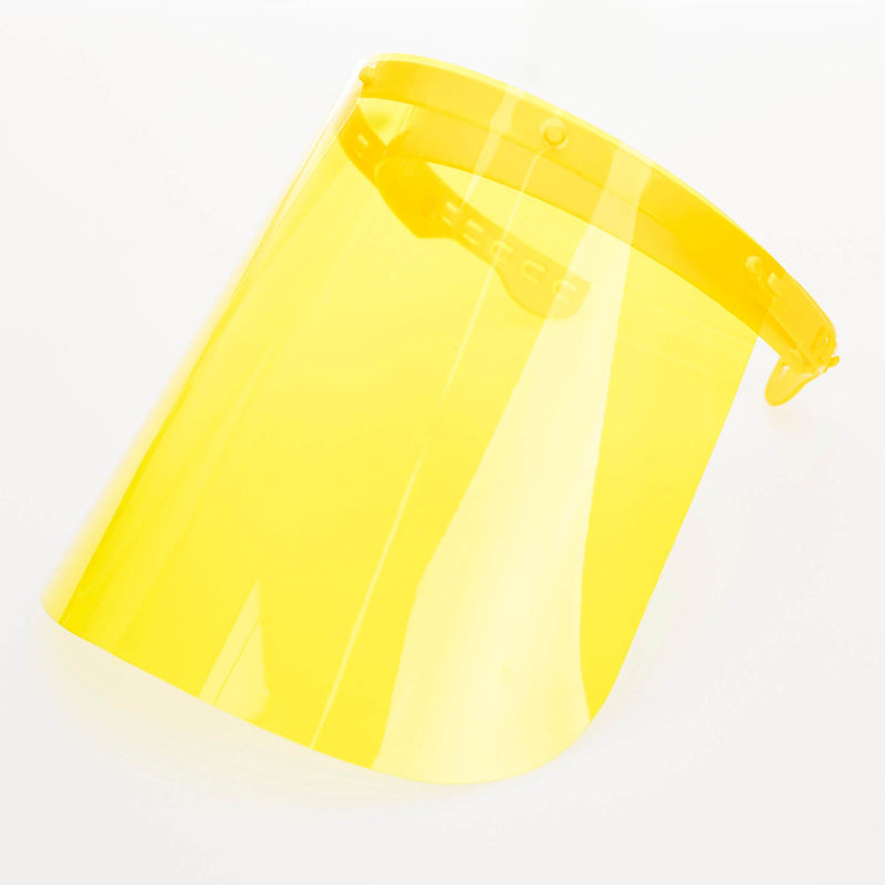 Magic Visors Colored | Face Shield Colored | Yellow - Currved