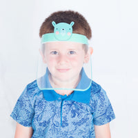 Magic Visors Face Shield for Kids Green - Currved