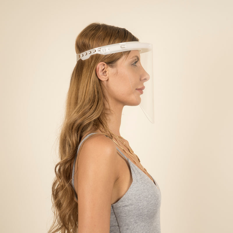 Magic Visors Mechanism 01 | Mechanism Face Shield | White - Currved