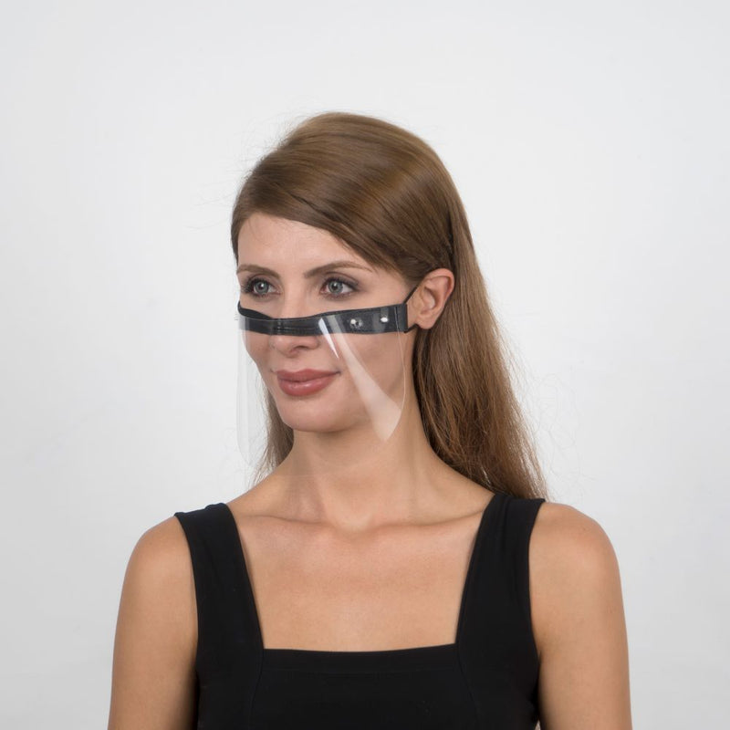 Nosty Face Shield  - Black - Currved
