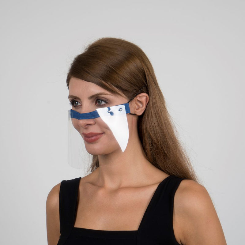 Nosty Face Shield  - Blue - Currved