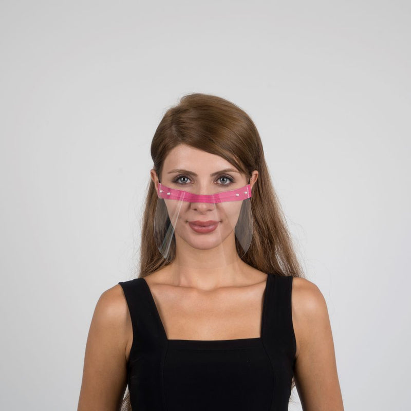 Nosty Face Shield  - Pink - Currved
