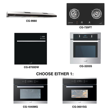 CG-720G & CG-9980 + Oven + Combi Oven (any) + Dishwasher