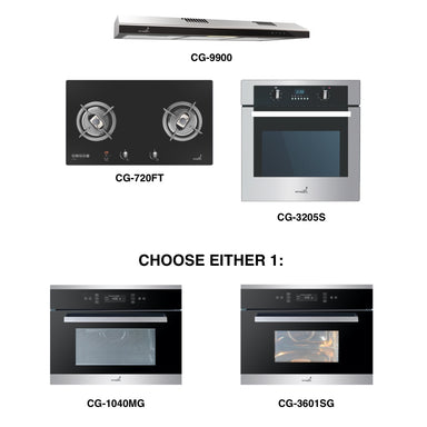 CG-720G & CG-9900 + Oven + Combi Oven (any)