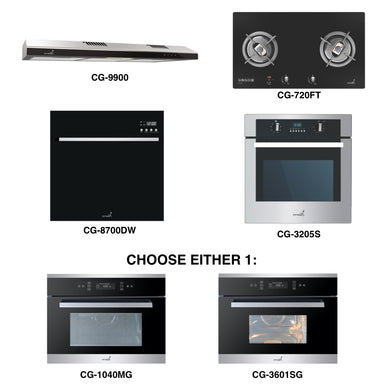 CG-720G & CG-9900 + Oven + Combi Oven (any) + Dishwasher