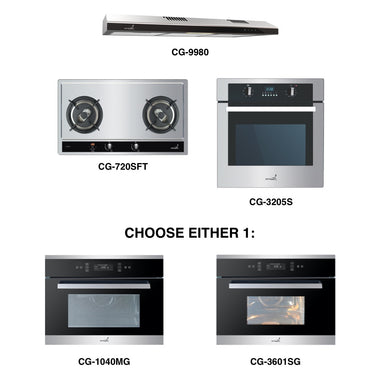 CG-720S & CG-9980 + Oven + Combi Oven (any)