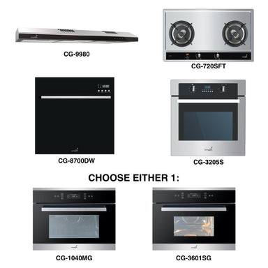 CG-720S & CG-9980 + Oven + Combi Oven (any) + Dishwasher