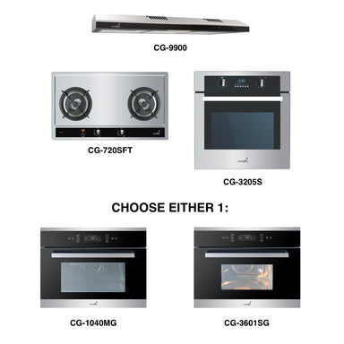 CG-720S & CG-9900 + Oven + Combi Oven (any)