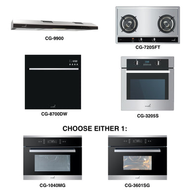 CG-720S & CG-9900 + Oven + Combi Oven (any) + Dishwasher