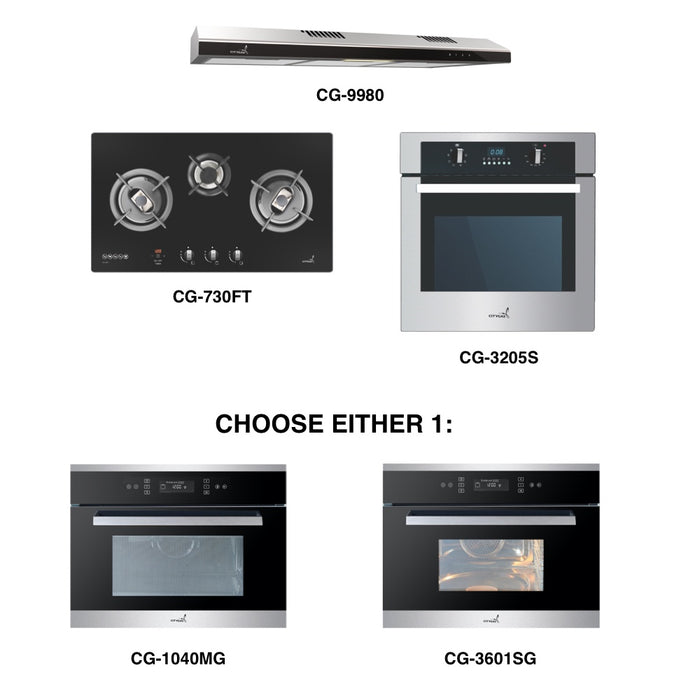 CG-730G & CG-9980 + Oven + Combi Oven (any)