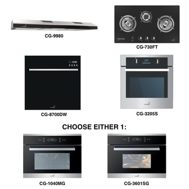CG-730G & CG-9980 + Oven + Combi Oven (any) + Dishwasher