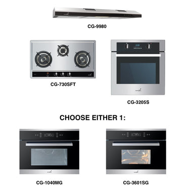 CG-730S & CG-9980 + Oven + Combi Oven (any)