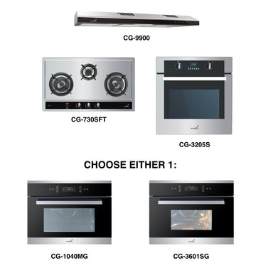 CG-730S & CG-9900 + Oven + Combi Oven (any)