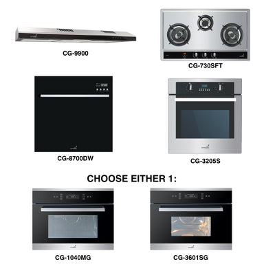 CG-730S & CG-9900 + Oven + Combi Oven (any) + Dishwasher