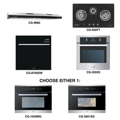 CG-930FT & CG-9980 + Oven + Combi Oven (any) + Dishwasher