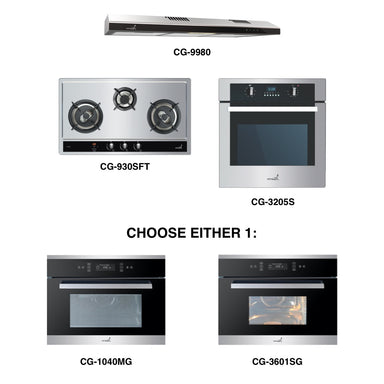 CG-930SFT & CG-9980 + Oven + Combi Oven (any)