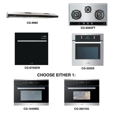 CG-930SFT & CG-9980 + Oven + Combi Oven (any) + Dishwasher