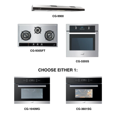 CG-930SFT & CG-9900 + Oven + Combi Oven (any)