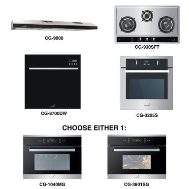 CG-930SFT & CG-9900 + Oven + Combi Oven (any) + Dishwasher