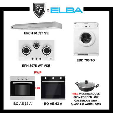 BUNDLE DEAL B - HOB + HOOD + Gas Clothes Dryer