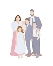 Load image into Gallery viewer, Custom Family Portrait